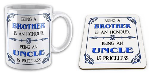 Being A... Is An Honour Being A... Is Priceless Novelty Mug with Coaster Gift Set - Blue